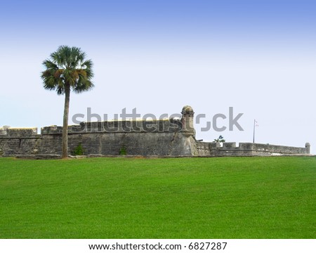 Castillo de San Marco - ancient fort in st. augustine florida - stock photo