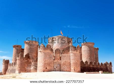castle at Belmonte. Cuenca, Spain - stock photo
