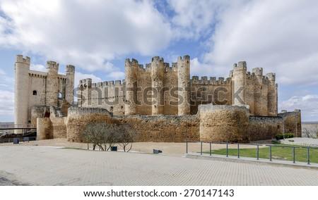 Castle at Valencia de Don Juan, Castilla y Leon, Spain - stock photo