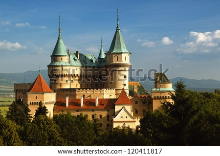 Castle Bojnice, Slovakia - stock photo