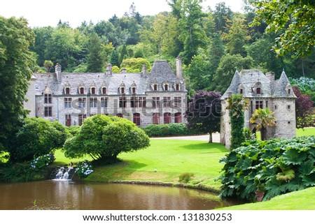 Castle de Nacqueville (Chateau de Nacqueville), Normandy, France - stock photo