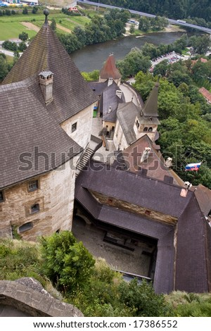 Castle from the sky - stock photo