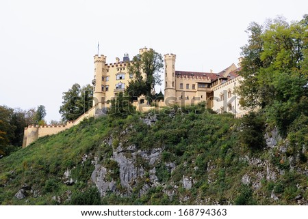 Castle Hohenschwangau - stock photo
