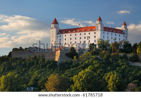Castle in bratislava - detail - stock photo