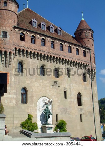 Castle in Lausanne Switzerland - stock photo