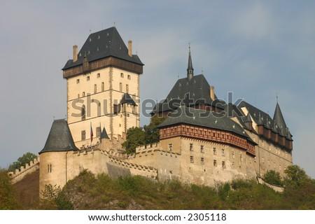 castle karlstejn near prague - stock photo