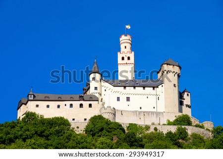 Castle Marksburg in Braubach/Germany - stock photo