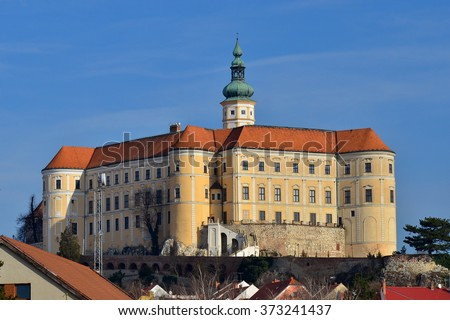 castle Mikulov, Czech republic - stock photo