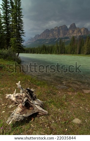 Castle Mountain - stock photo