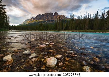 Castle Mountain, Banff National Park, Alberta, Canada  - stock photo