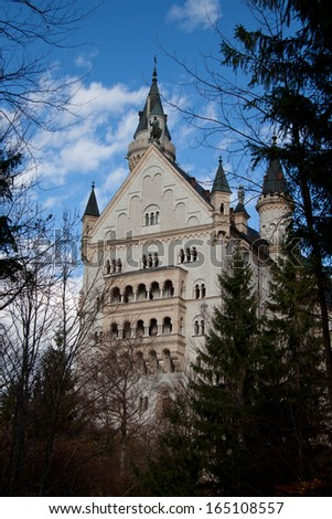 Castle Neuschwanstein, Bavaria - stock photo