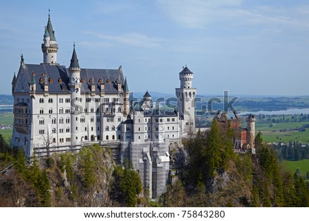 Castle Neuschwanstein, Bavaria, Germany - stock photo