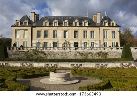 Castle of Auvers-sur-Oise, Val-d'Oise, France - stock photo