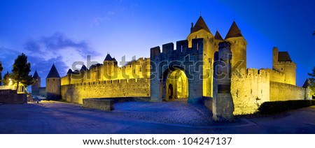 Castle of Carcassonne - stock photo