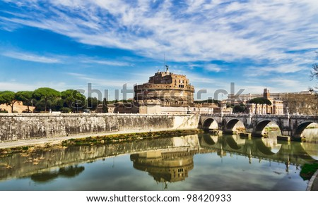 Castle of the Angels, Rome,. St Angelo - stock photo