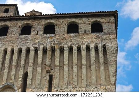 Castle of Torrechiara. Emilia-Romagna. Italy. - stock photo