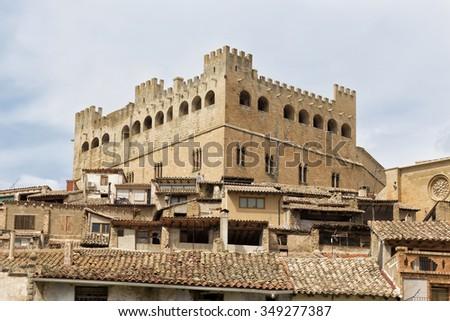 Castle of Valderrobres, Teruel, Aragon community, Spain - stock photo