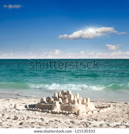 castle on sand - stock photo