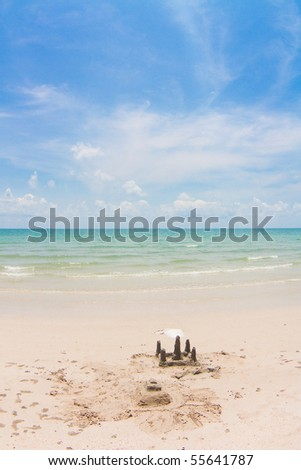 Castle on the sand - stock photo