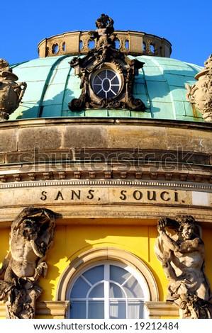 "Castle ""Sans Souci"" in Potsdam, Germany - stock photo"