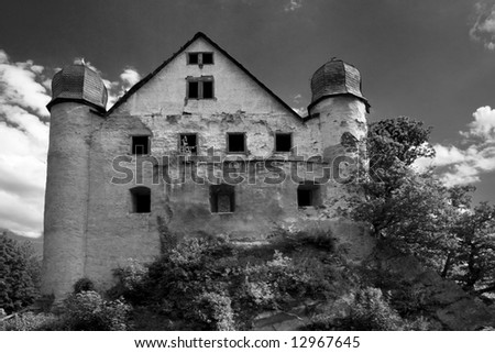 Castle Schwarzburg - stock photo