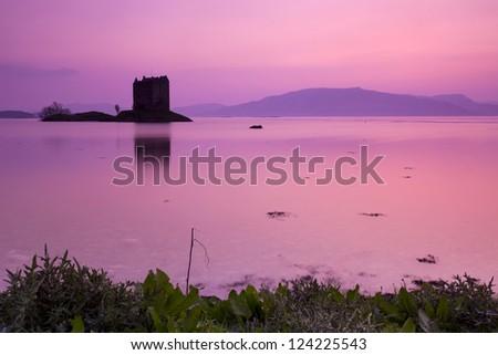 Castle Stalker, Scotland, Europe - stock photo
