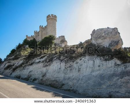 Castle Telez Giron, Valladolid, Castilla y Leon, Spain - stock photo