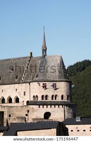 castle Vianden, Luxembourg - Europe - stock photo