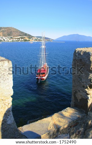 Castle view - stock photo