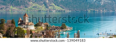 Castle View at Visp, Switzerland - stock photo