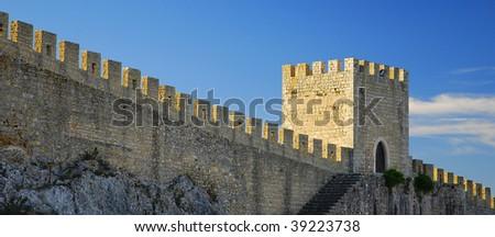 Castle wall - stock photo