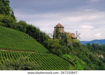 castle Warth near Bolzano, Alto Adige - stock photo