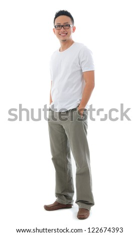 casual asian man - stock photo