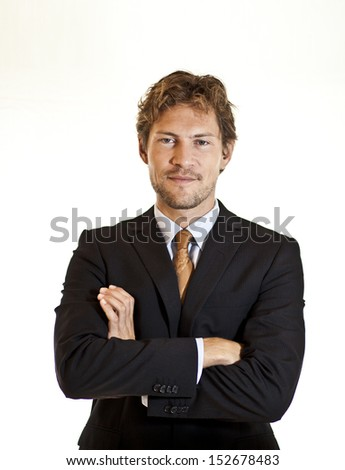 Casual businessman posing for the camera - stock photo