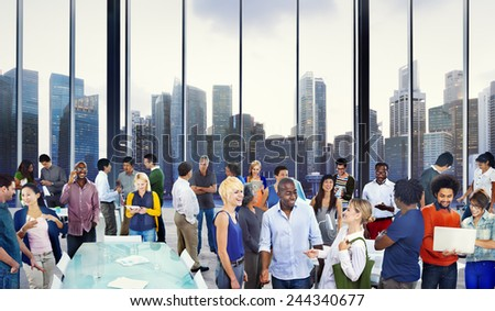 Casual Group Diverse People Office Interaction Working Concept - stock photo