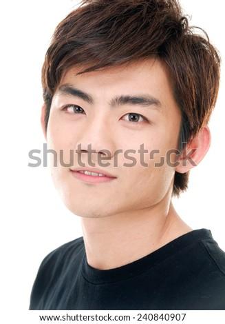 casual man portrait smiling  - stock photo