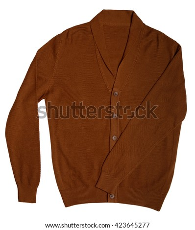 casual men's cardigan - stock photo