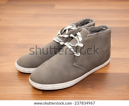 Casual mens winter shoes - stock photo