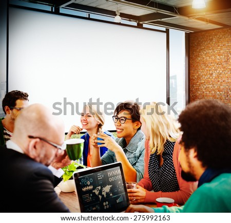 Casual People Meeting Discussion Brainstorming Concept - stock photo