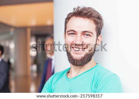 casual portrait of handsome man - stock photo