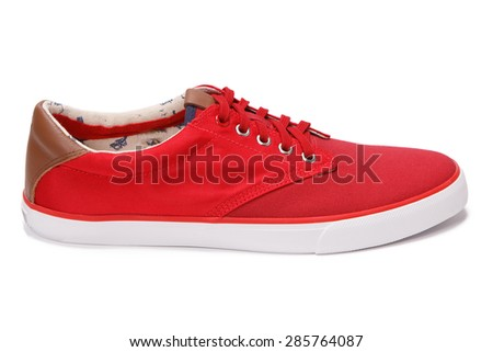 casual sneakers isolated - stock photo