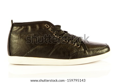 casual style sport shoes Isolated on white - stock photo
