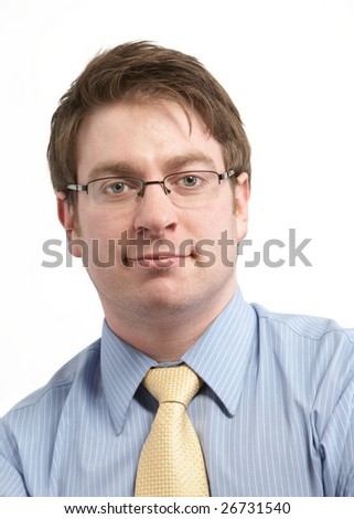 Casual young businessman isolated on white background - stock photo