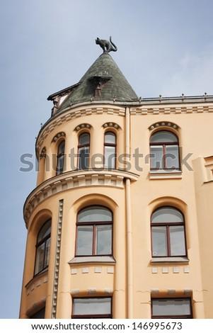 Cat house. Old tpwn, Riga - stock photo