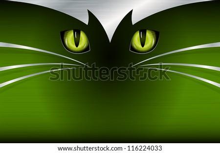 Cat's eyes background - stock photo