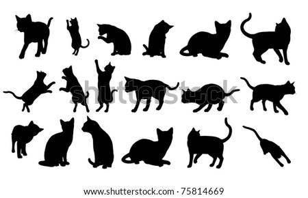 Cat Silhouette - stock photo