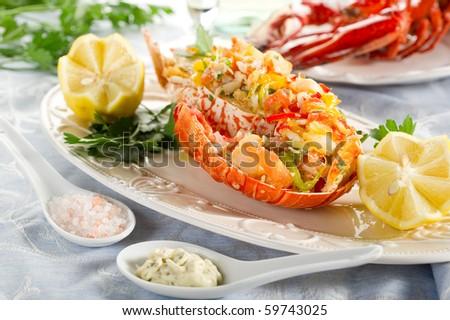 catalan lobster - stock photo