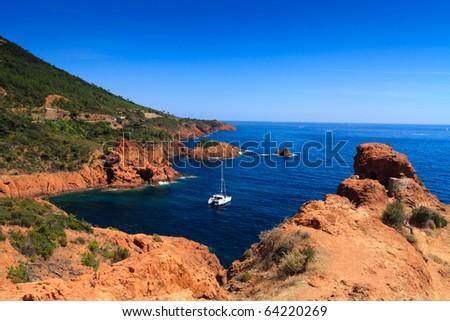 Catboat - stock photo