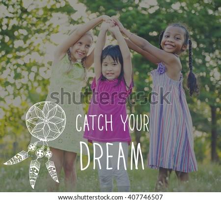 Catch Dream Believe Aspiration Motivation Concept - stock photo