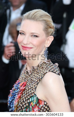 Cate Blanchett attends the 'How To Train Your Dragon 2' Premiere at the 67th Annual Cannes Film Festival on May 16, 2014 in Cannes, France. - stock photo